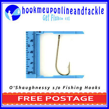 100 x Size 1/0 O'Shaughnessy Hooks Saltwater Freshwater Fishing Tackle Bulk