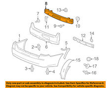 Rear Bumper-Impact Bar Reinforcement Beam Support Rebar 25836070