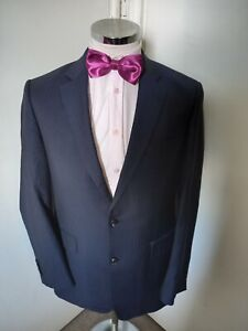 "CHESTER BARRIE Men's Navy Suit Jacket Chest 40"" Regular Drop & Fit 100% Wool"