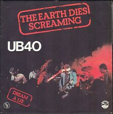 UB 40 THE EARTH DIES SCREAMING 45T SP 1980 VOGUE 101.386 DISQUE QUASI NEUF