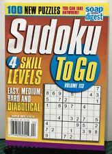 Sudoku To Go 4 Skill Levels New Puzzles Volume 113 2019 FREE SHIPPING JB