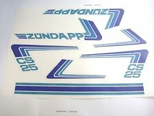 Zündapp Aufkleber Dekorsatz Typ 448 CS25 Weiß / Blau CS 25