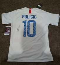 CHRISTIAN PULISIC SIGNED Team USA Jersey JSA autograph FC CHELSEA 2 XL