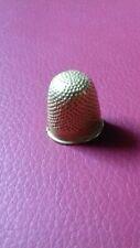 Dé à coudre ancien or 22 carats dans état 4.40 gr gold sewing threads fingerhut
