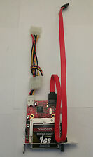 Addonics SATA Compact Flash Adapter w/ Transcend 1GB CF Card & Cables ADSACF-7MS