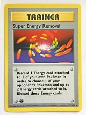 Pokemon Card - 1st Edition Shadowless Trainer Super Energy Removal (79/102) NM