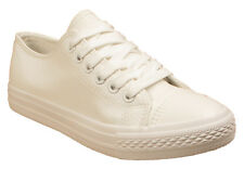 Womens Ladies Trainer  Faux Leather Girls School  Trainers  Sneakers Shoes Size