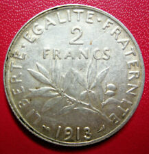 France. Belle 2 Francs semeuse 1913. Argent. SUP