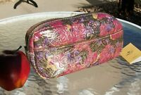 Patricia Nash Metallic Paisley Remini Cosmetic/Travel Bag NWT