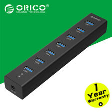 ORICO ABS Super Speed USB 3.0 7 Ports HUB Splitter Box For PC