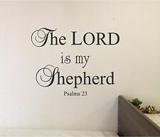 The LORD is my Shepherd Wall lettering Decor Vinyl Decal Bible verse Psalms 23