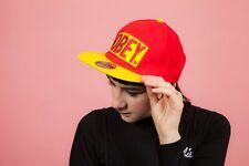 Retro style red & yellow OBEY snapback baseball cap 7 1./4