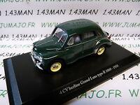4CV9A Voiture 1/43 ELIGOR  hachettes renault 4CV n° 6 grand luxe type R1060 1950