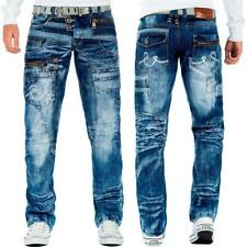 Kosmo Lupo Herren Jeans Hose Reißverschluss Streetwear Besonderes Design Dope