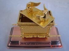 "Gold Plated Figurine Ark of the Covenant Copper Replica Statue Small 4.5"""