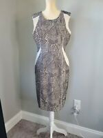 Antonio Melani Womens Dress Sleeveless Beige Black Size 10