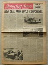 MOTORING NEWS Newspaper 29 May 1969 LOTUS SPECIAL EDITION