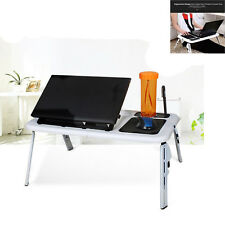 Laptop Computer Desk Portable Table Bed Sofa Folding Adjustable Width Stand Tray