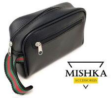 Pochette MiShKa Uomo Donna Con Cinturino Da Polso in Pelle 20x12x7 MOTO borsello