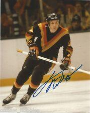 Vancouver Canucks Tiger Williams Signed Autographed 8x10 NHL Photo COA B