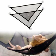 2Pcs/Set Pet Reptile Hammock Mesh Sleeping Bed Swing Play Toys With Suction Cup