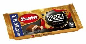MARABOU BLACK SALTLAKRITS 220g - Schokolade - Salzlakritz - Lakritz - Tafel -