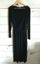Vince Camuto Dress Xl Black Maxi Jersey Uk 16/18 NEW Slimming Versatile Long
