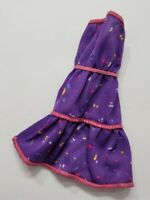 BARBIE DOLL CLOTHES PURPLE CASUAL PAINT SPLATTER STRAPLESS DRESS FASHION STYLE