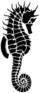 SEALIFE SEAHORSE MYLAR STENCIL HOME DECOR PAINTING WALL ART 190 MICRON - A4 & A3