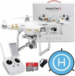 DJI Phantom 3 Professional Quadcopter Aircraft, 3-Axis Gimbal & 4K Bundle