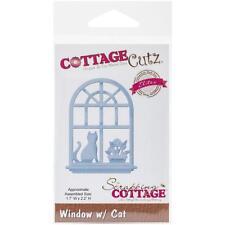 "CottageCutz Elites Die ~ Window With Cat 1.7""X2.2"", CCE232 ~ NIP"