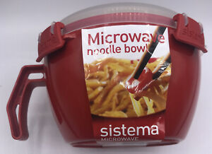 Sistema 1109ZS Microwave Clip It Noodle Bowl Reheat Cook Steam Dish 4cup/32oz
