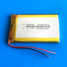3.7V 1300mAh Li Po Polymer Battery Cells For DVD GPS Camera TV box Phone 503759