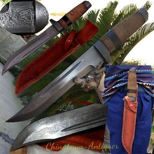 Sharp Knife Sword Dagger COMBAT HUNTING KNIFE Military Damascus Steel #3002