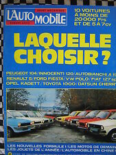 L'AUTOMOBILE 1977 RALLYE R.A.C + VAR / NISSAN CHERRY / INNOCENTI 120 / FIAT 127