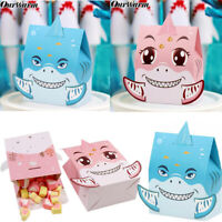 OurWarm 12×Animal Shark Party Gift Box DIY Paper Sweet Candy Box Birthday Decor