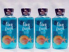4 Bath & Body Works LIVE FRESH - SEASIDE BREEZE Shower Gel Body Wash
