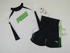 NWT PUMA 2 Pc Athletic T-Shirt & Shorts Set Outfit Baby Infant Boys 12 M $42