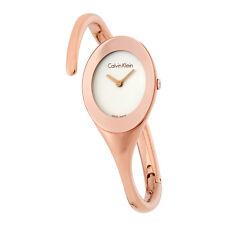 Calvin Klein Embrace White Dial Bangle Ladies Watch K4Y2L616