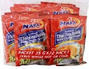 2 PACK INSTANT THAI TEA DRINK 3 IN 1 WITH CREAM & SUGAR( 24 COUNTS) 🍵