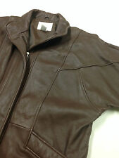 Vintage Leather Jacket Nordstrom Town Square Brown Soft Coat Men's Size M
