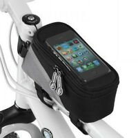 Cycling Bags Bicycle Frame Pannier Bike Tube Bag for Cell Phone Bag Black Gray