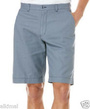 NEW MENS CUBAVERA LINEN COTTON FLAT FRONT FLINT STONE SHORTS 42