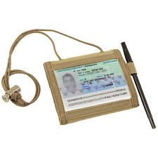 CONDOR VAULT Nylon Bi-Fold/Tri-fold Tactical Wallet w/Lanyard 235-003 TAN