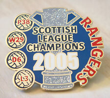 RANGERS Victory Pins 2005 PREMIER LEAGUE CHAMPIONS Badge Danbury Mint