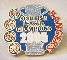 RANGERS Victory Pins 2005 PREMIER LEAGUE CHAMPIONS Badge Danbury Mint