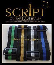 4x Script® Replacement Multi Colour Electric Acoustic Bass Guitar Straps