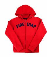 Boys Hoodie Jumper Zip Up Jacket Official Firetrap 2-13 Years Old