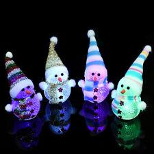 Cute LED Lights Santa Snowman Ornament Christmas Outdoor Indoor Decoration Gift