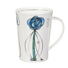Fine Bone China Mug Blue MacIntosh Rose - Made in the UK with British Clay